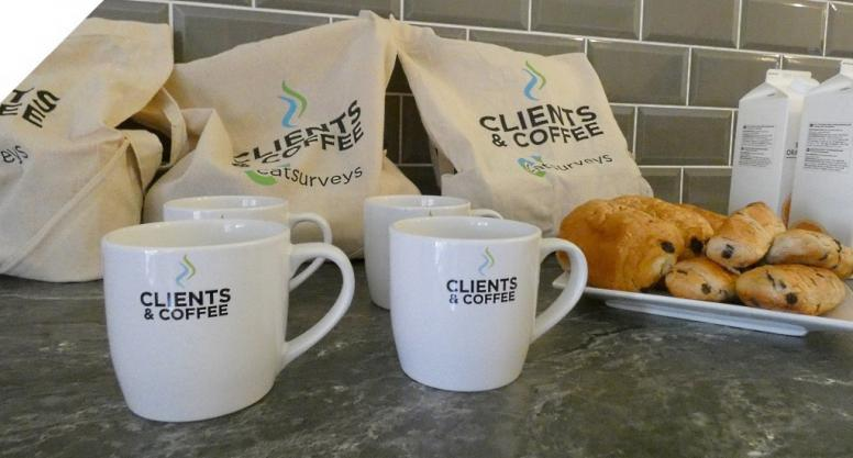 Catsurveys-Ltd-Blog-Clients-and-Coffee-Mornings-Mugs-Pastries